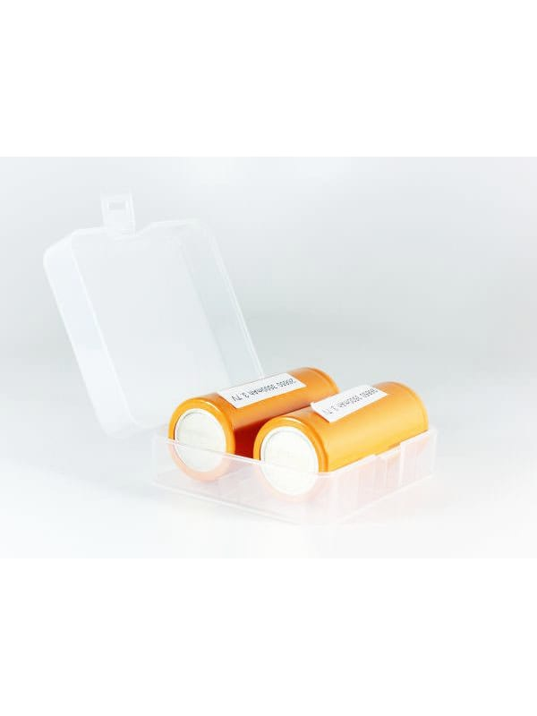 2x - 26650 Battery Clear Case