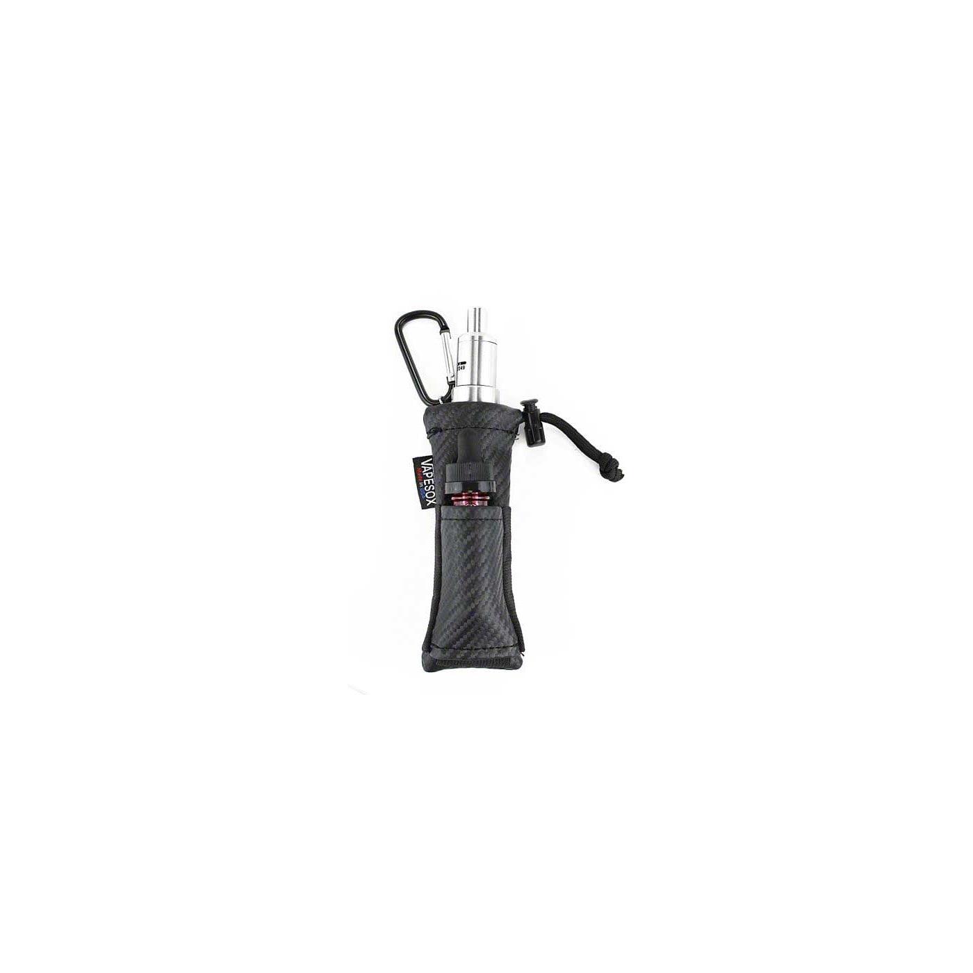 Vapesox VS5 Mod Holder - Black Carbon Fiber with items