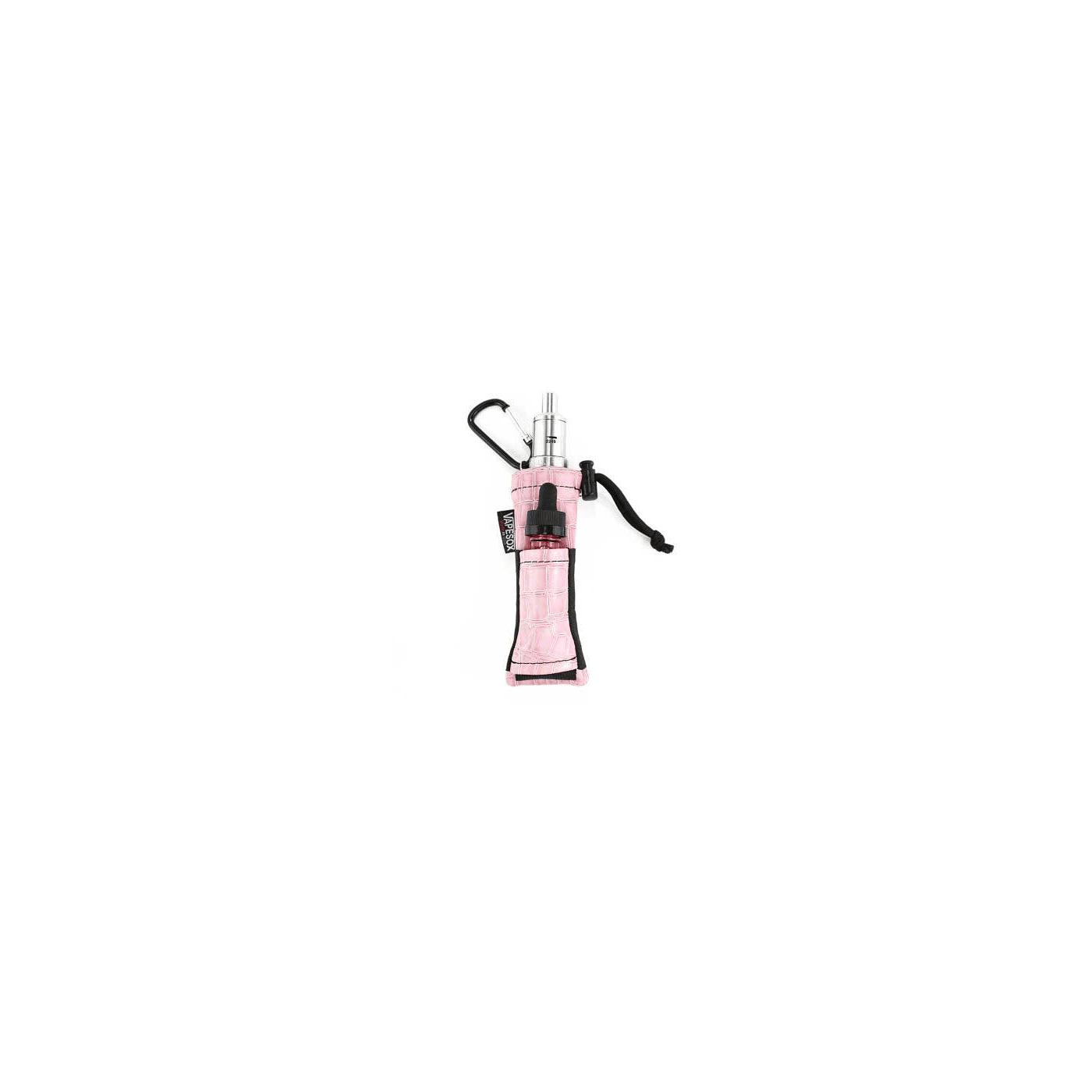 Vapesox VS5 Mod Holder - Light Pink Croc with items