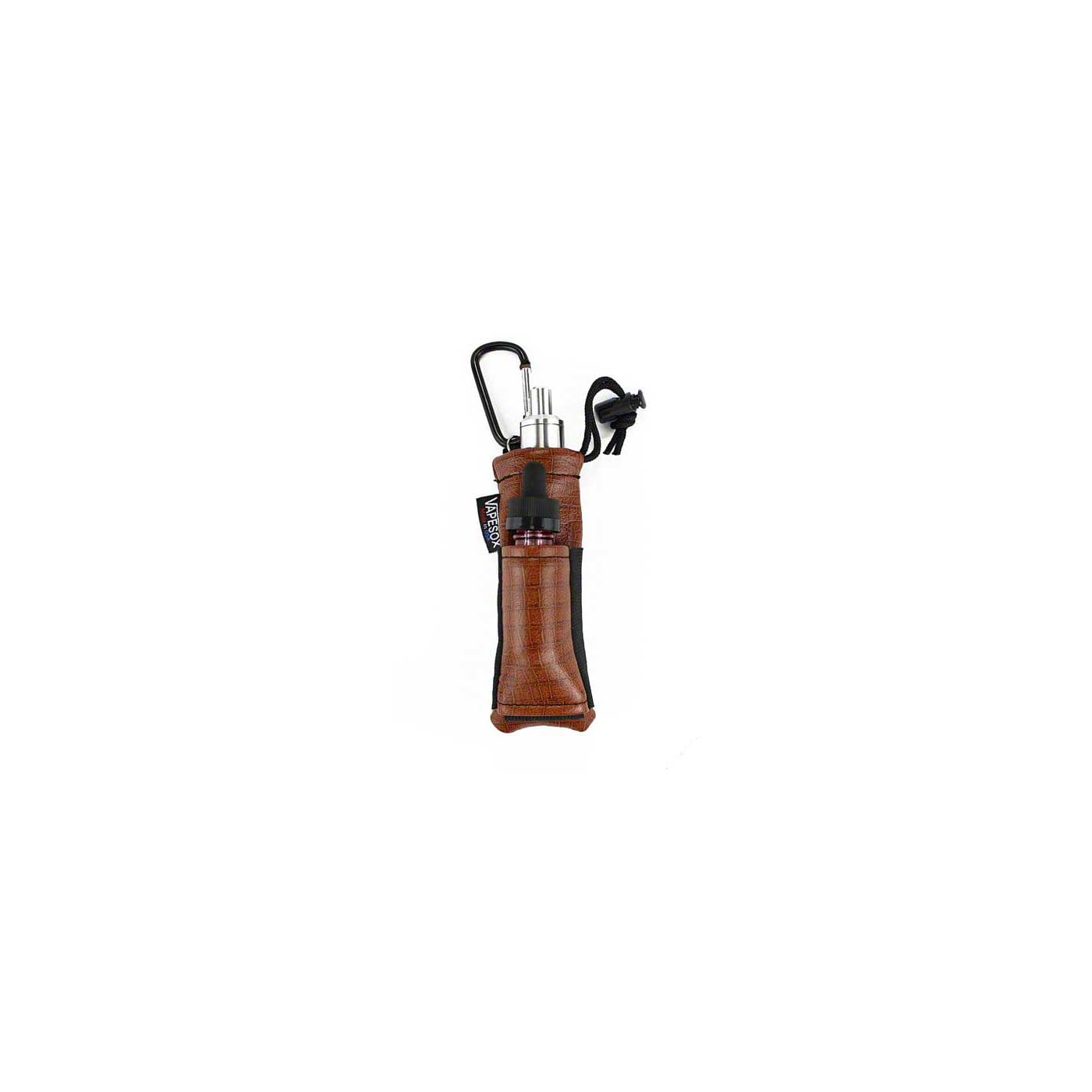 Vapesox VS5 Mod Holder - Saddle Brown Tortoise with Items