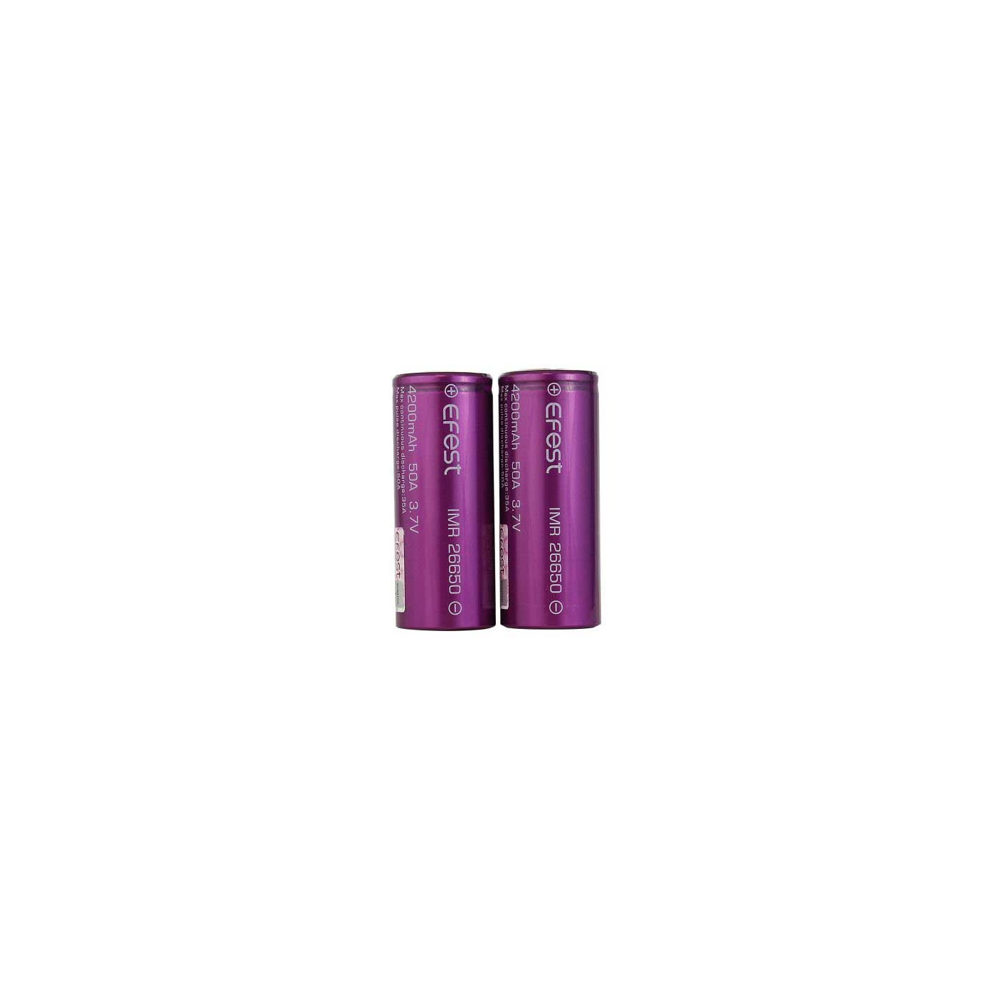 Efest IMR 50A 26650 Flat Top Battery 4200 mAh - 2 Pack