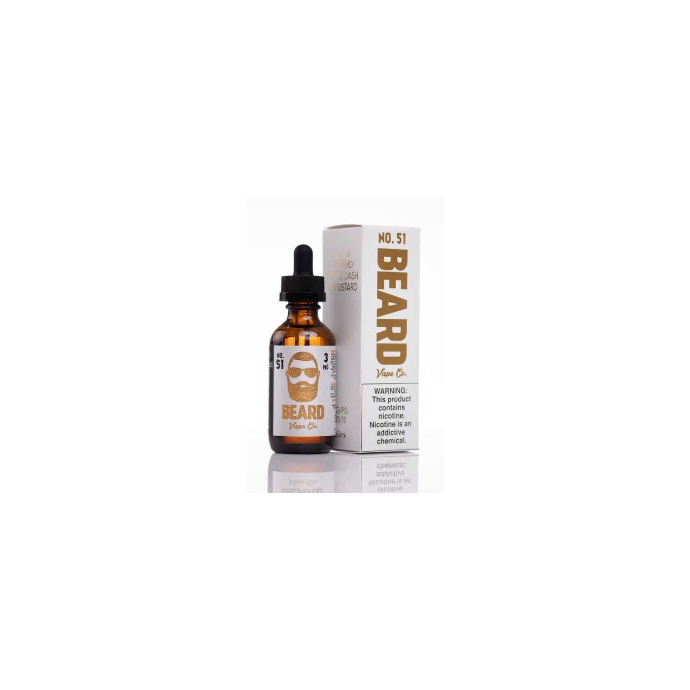 Beard Vape Co No 51 Custard E Liquid 60ml Vaporbeast - Www imagez co