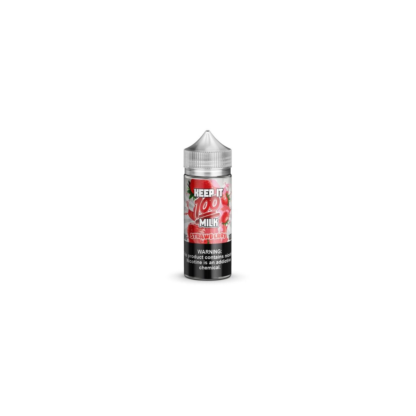Keep It 100 Strawberry Milk E-Juice 100ml