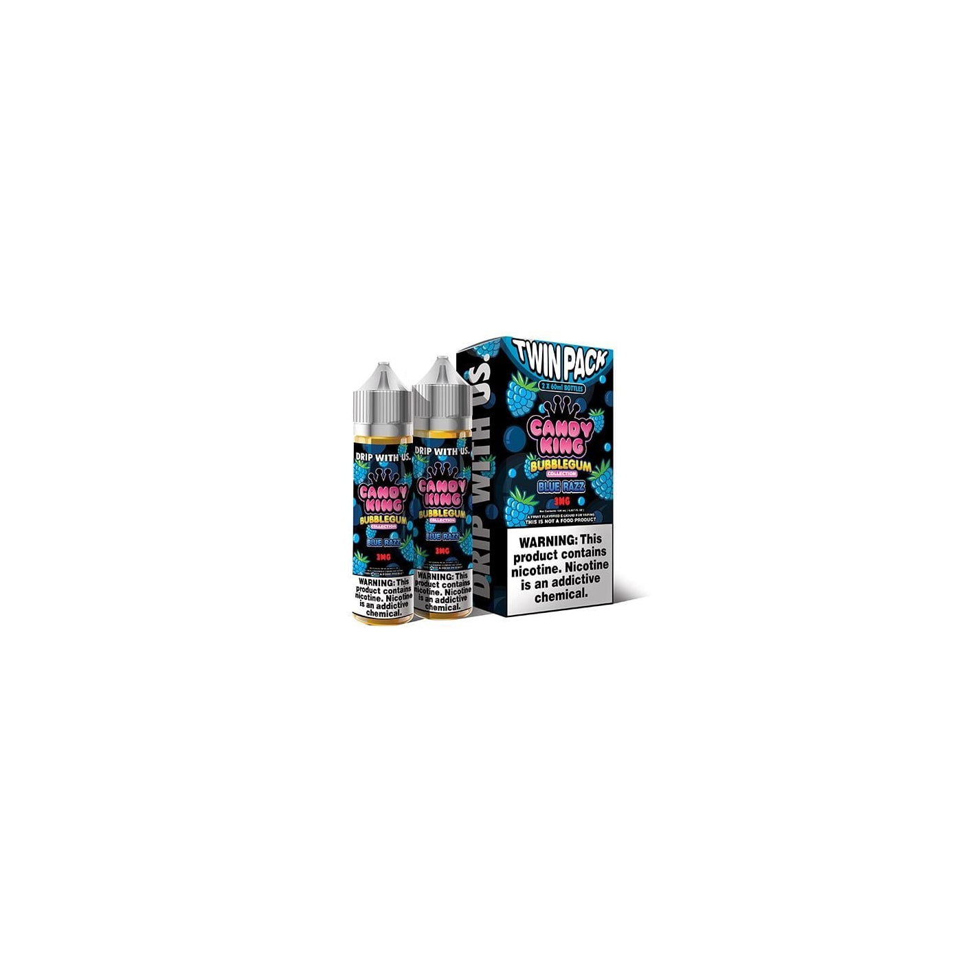 Candy King Bubblegum Blue Raz - 2 Pack