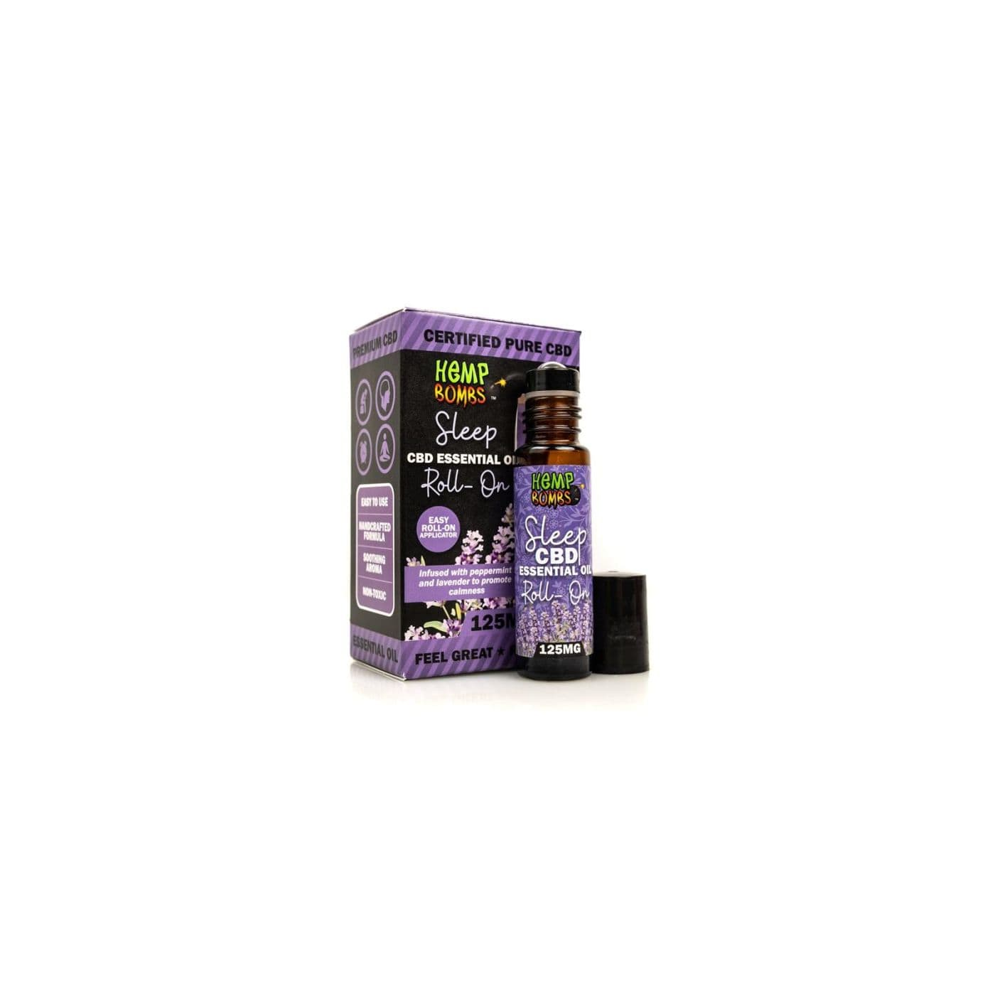 Hemp Bombs CBD Essential Oil Roller - Sleep Blend