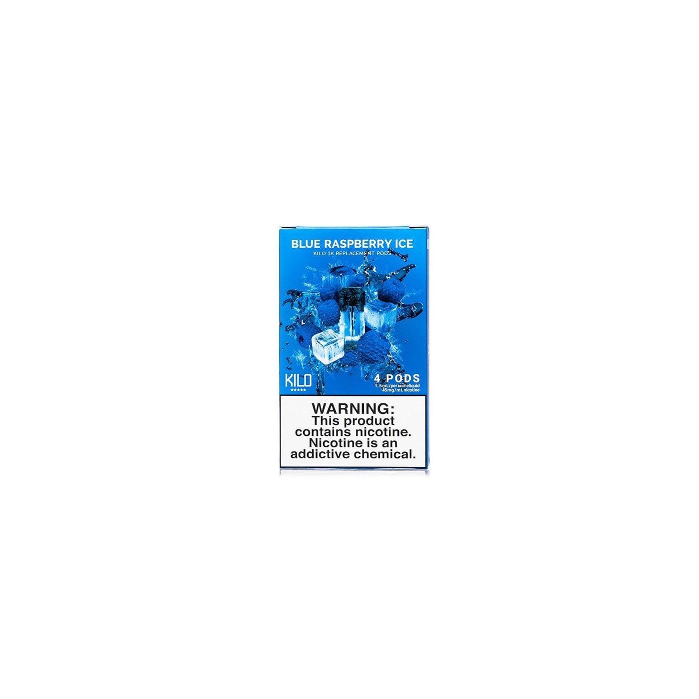 Kilo 1K Blue Raspberry Ice Pod - 4 Pack