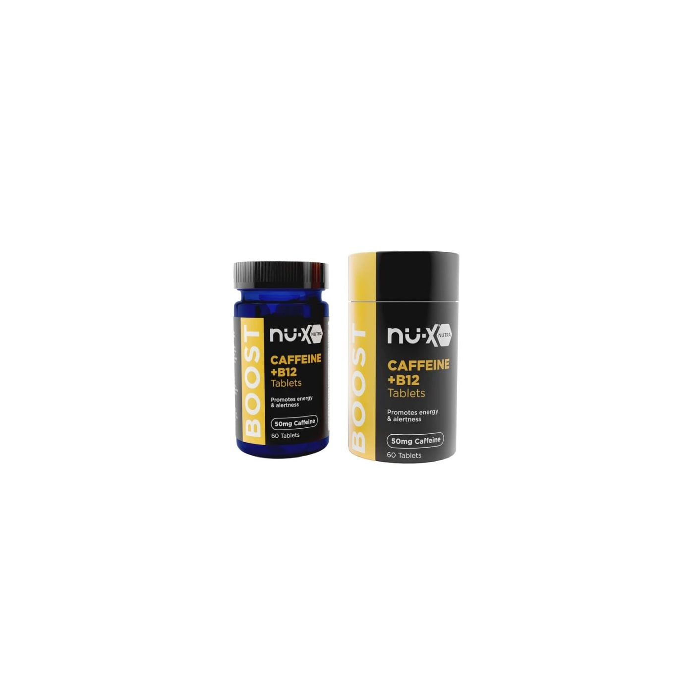 NU-X Boost Caffeine/B12 Chewable Tables - 60 Count