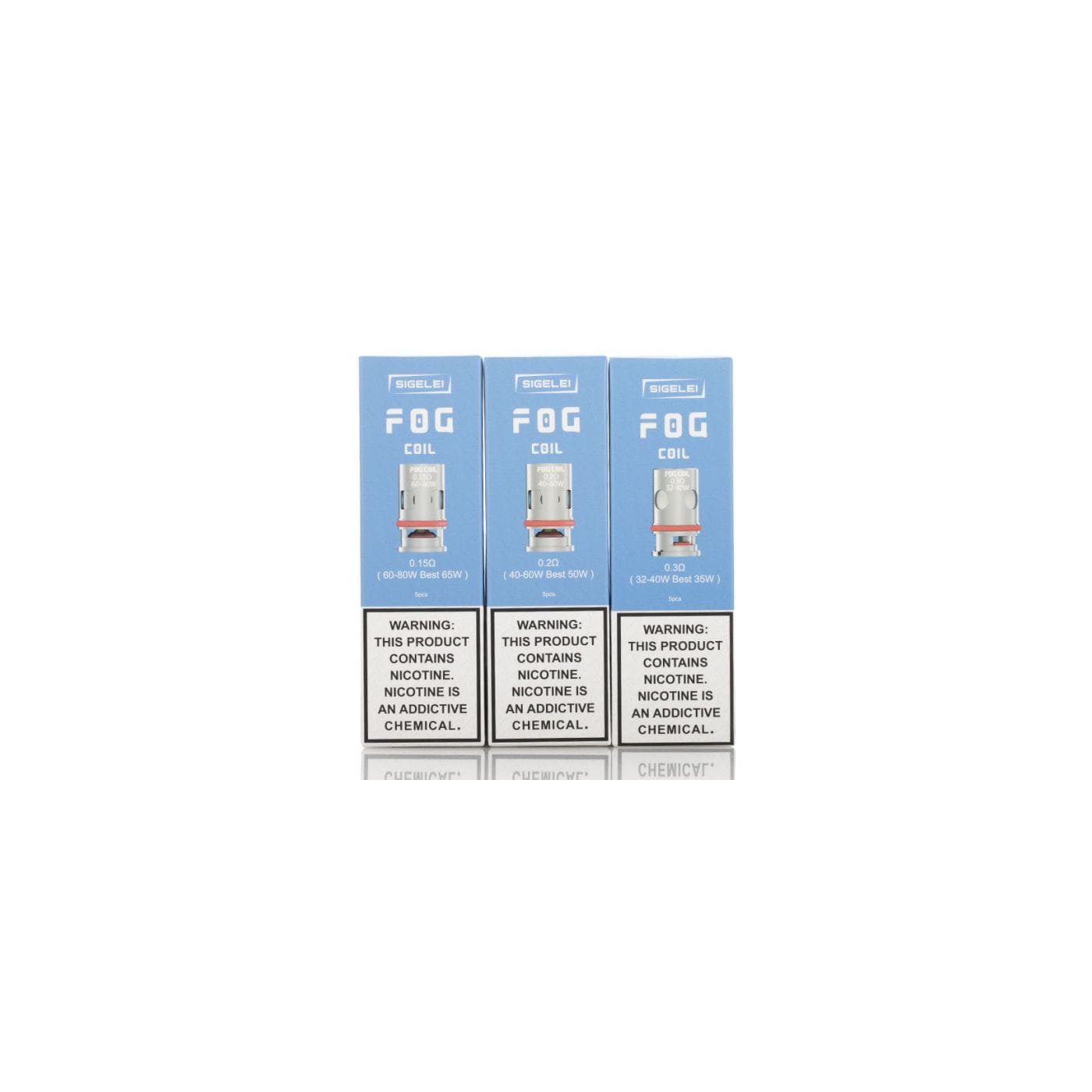 Sigelei FOG Replacement Coil - 5 Pack