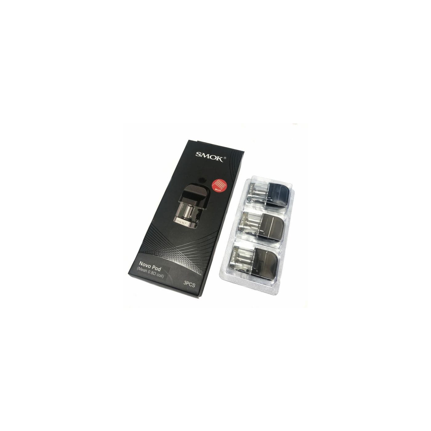 Smok Novo Replacement Pod with Mesh Coil - 3 Pack