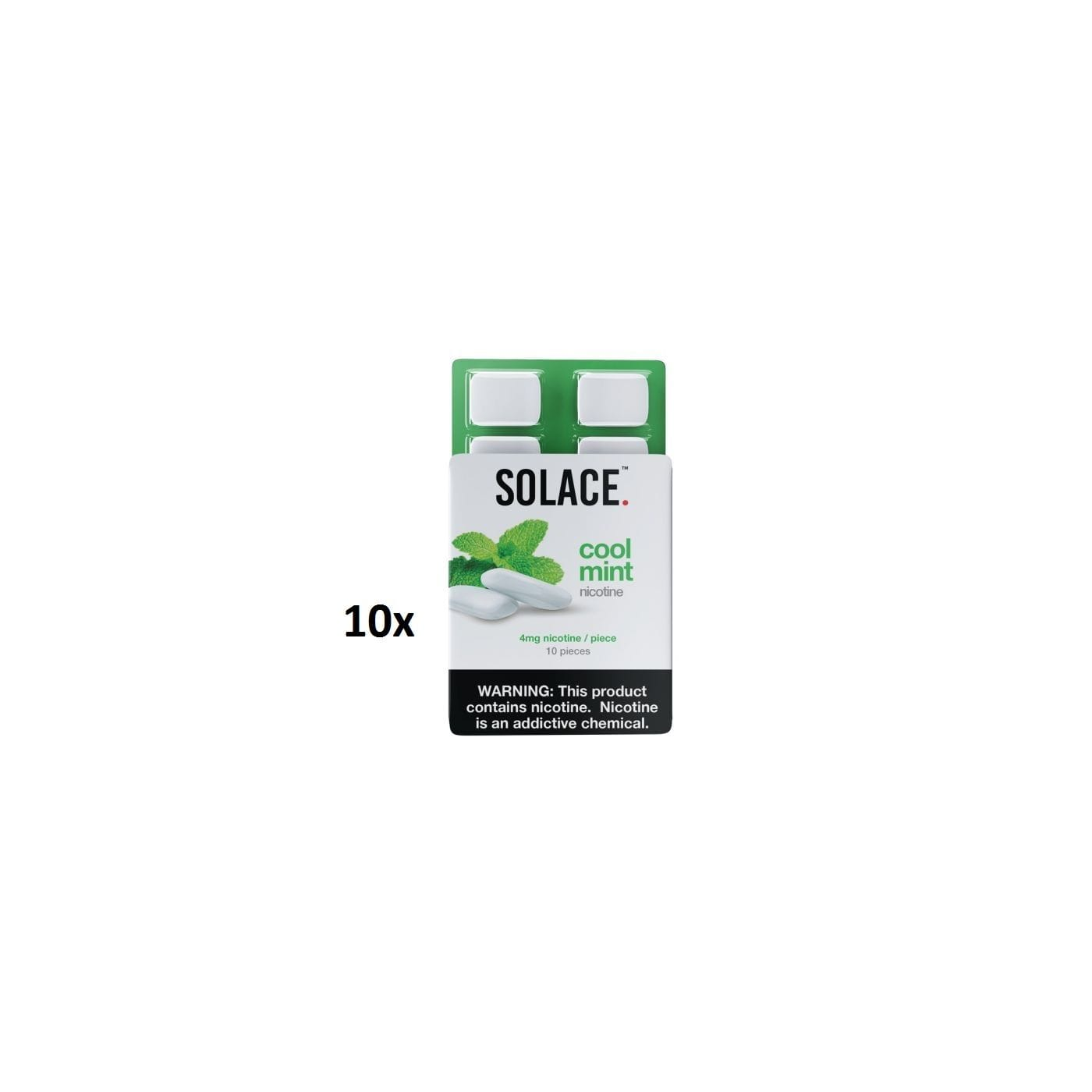 Solace Chew Mint - 10 Pack
