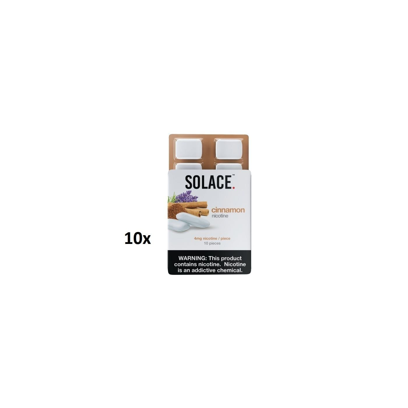 Solace Chew Cinnamon - 10 Pack